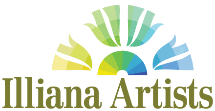 The Illiana Artists' Logo on White Background.