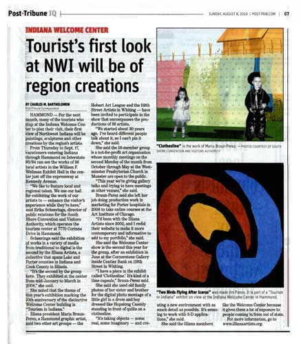 Scanned copy of the Post-Tribune exhibit article dated August 8, 2010.